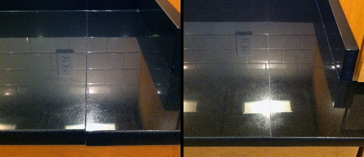 Black Granite Seam Repair